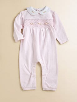 Hartstrings - Infant's Smocked Pointelle Romper