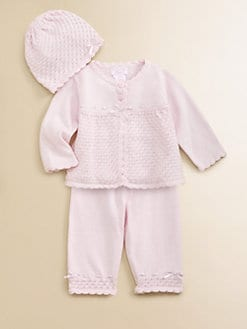 Hartstrings - Infant's Knit Sweater, Pants & Hat Set