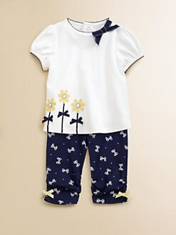Hartstrings - Infant's Bowed Top & Pants Set