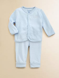 Hartstrings - Layette's Pointelle Top & Pants Set