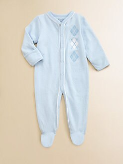 Hartstrings - Infant's Argyle Pointelle Footie
