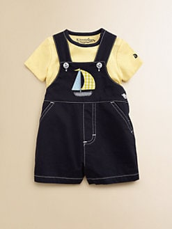Hartstrings - Infant's Two-Piece Shortall & Bodysuit Set