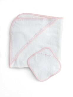 Royal Baby - Infant's Hooded Towel Set/Pink