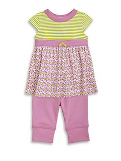 Offspring - Infant's Two Piece Daisy Dress & Leggings Set