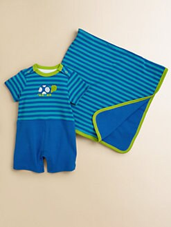 Offspring - Infant's Striped Turtle Romper