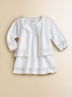 Kissy Kissy - Infant's Crochet Ribbon Cardigan