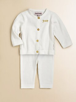 Juicy Couture - Infant's Two-Piece Embellished Cardigan & Pants Set