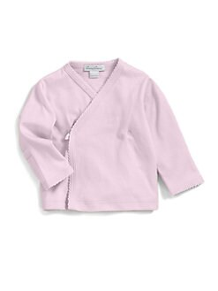 Kissy Kissy - Infant's Pima Cotton Kimono Top/Pink