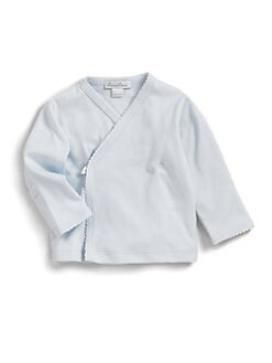 Kissy Kissy - Infant's Pima Cotton Kimono Top/Blue