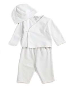 Kissy Kissy - Infant's Pima Cotton Kimono Top/White