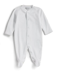 Kissy Kissy - Infant's Pima Cotton Footie/White