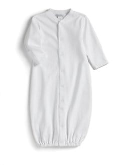Kissy Kissy - Infant's Pima Cotton Convertible Gown/White