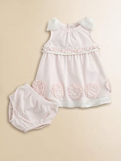 Miniclasix - Infant's Rosette Knit Dress and Bloomer Set