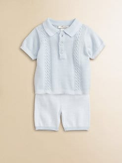 Miniclasix - Infant's Polo Sweater and Shorts Set