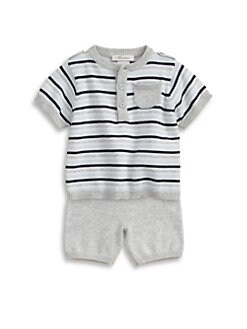 Miniclasix - Infant's Henley Sweater and Shorts Set