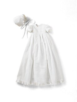 Kissy Kissy - Infant's Christening Gown & Bonnet Set/Nicole