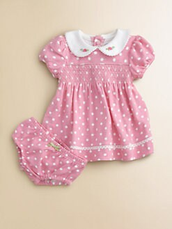 Hartstrings - Infant's Polka Dot Dress & Bloomers Set