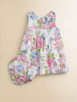 Hartstrings - Infant's Floral Sateen Dress & Bloomers Set