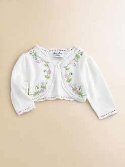 Hartstrings - Infant's Floral Embroidered Cardigan