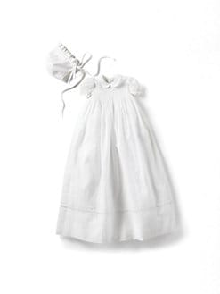 Kissy Kissy - Infant's Lace-Trimmed Christening Gown & Bonnet Set/Silene