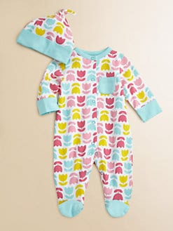 Offspring - Infant's Tulip Footie and Beanie Set