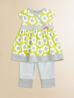 Offspring - Infant's Daisy Dress and Striped Legging Set