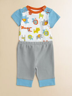 Offspring - Infant's Safari Bodysuit and Pants Set