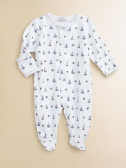 Kissy Kissy - Infant's Pima Cotton At The Helm Footie