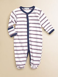 Kissy Kissy - Infant's Striped Pima Cotton Footie