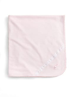 Royal Baby - Infant's Dot-and-Ribbon Receiving Blanket/Pink