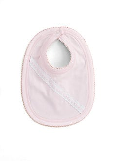 Royal Baby - Infant's Ribbon-and-Dot Bib/Pink