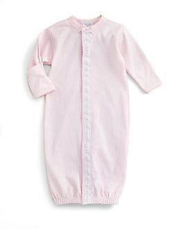 Royal Baby - Infant's Ribbon-and-Dot Convertible Gown/Pink