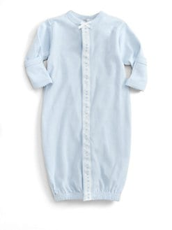 Royal Baby - Infant's Ribbon-and-Dot Convertible Gown/Blue