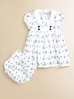 Kissy Kissy - Infant's At The Helm Dress & Bloomers Set