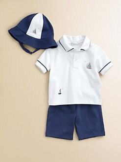 Kissy Kissy - Infant's Three-Piece Starboard Shirt, Shorts & Hat Set