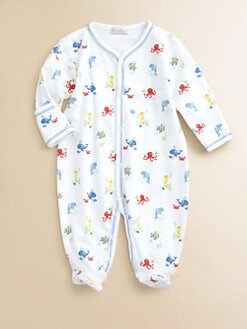 Kissy Kissy - Infant's Oceans Alive Pima Cotton Footie