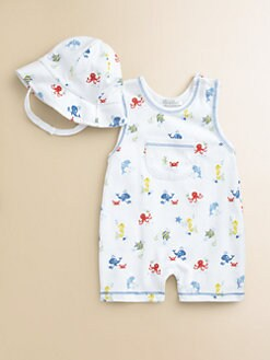 Kissy Kissy - Infant's Oceans Alive Playsuit & Hat Set
