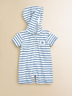 Kissy Kissy - Infant's Oceans Alive Striped Terry Romper