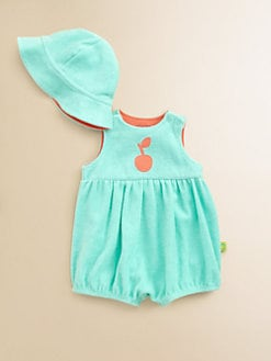 Offspring - Infant's Terry Cherry Romper & Sunhat Set