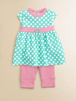Offspring - Infant's Dotted Dress & Leggings Set