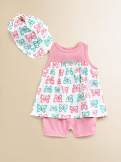 Offspring - Infant's Butterfly Popover & Cap Set