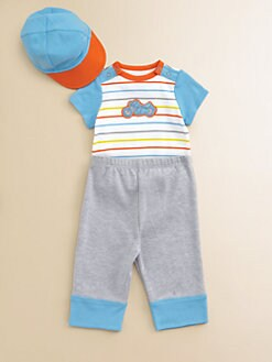 Offspring - Infant's Biker Bodysuit, Pants & Cap Set