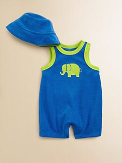 Offspring - Infant's Terry Elephant Shortall & Sunhat Set