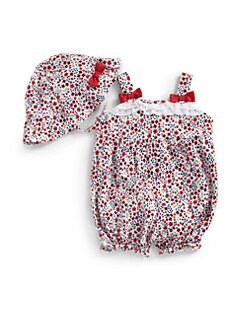 Hartstrings - Infant's Two-Piece Floral Sunsuit & Hat Set