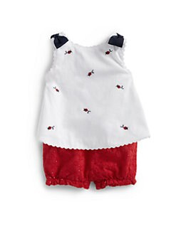 Hartstrings - Infant's Two-Piece Poplin Float Top & Cherry Pants Set