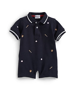 Hartstrings - Infant's Knit Baseball Shortall
