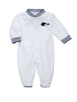 Royal Baby - Infant's Whale-Motif Footie/Blue