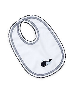 Royal Baby - Infant's Whale-Motif Bib/Blue