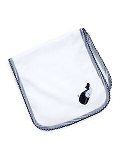 Royal Baby - Infant's Whale-Motif Burp Pad/Blue