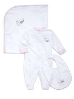 Royal Baby - Infant's Whale-Motif Footie/Pink